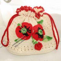 Вязаная сумочка — работа Екатерины