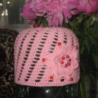 Вязаная шапочка — работа Екатерины