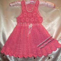Розовый сарафанчик на 6-12 месяцев