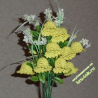 Вязаные цветы - работы Лилии