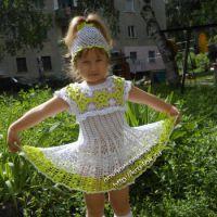 Платье для девочки — работа Елены Лебедевой