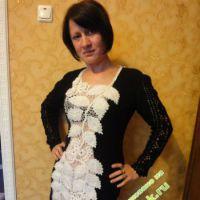 Вязаное платье — работа Людмилы