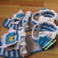 Тапочки- сандали — работы Александры