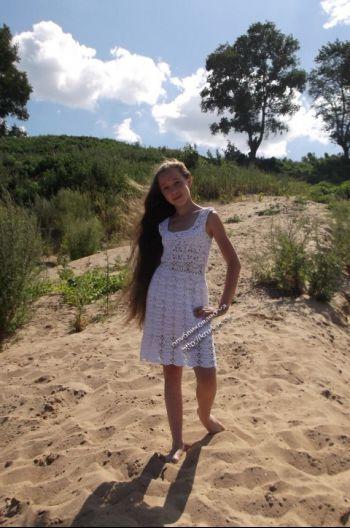 Ажурное платье - работа Гульназ