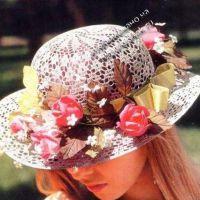 Ажурная шляпа с цветами