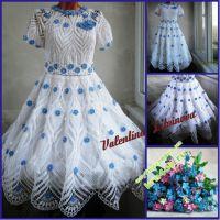Платье «Незабудка в белом ажуре»