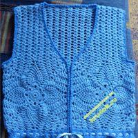 Голубая жилетка — работа Ирины