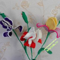 Вязаные цветы — работы Сизовой Светланы Павловны