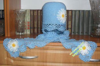 Шапочка и шарф — работа Светланы