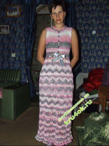 """Платье """"Ананас"""". Вязание крючком."""