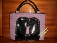 Вязаная сумка — работа Виктории