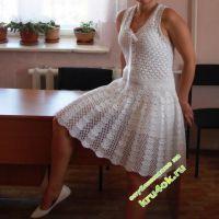 Вязаное платье — работа Ольги