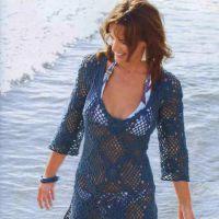 Темно-синяя туника-платье