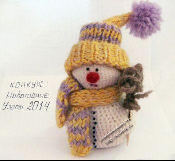 Игрушка снеговик, схемы вязания