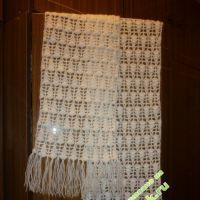 Ажурный шарфик — работа Татьяны Беляевой