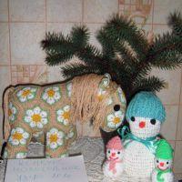 Лошадка и снеговик — работы Екатерины