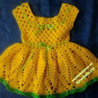 Желтое платье для девочки — работа Анны