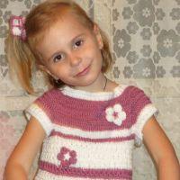 Вязаное платье — работа Лидии