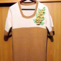 Вязаное крючком платье — работа Дианы