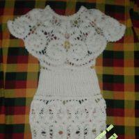 Вязаное платье — работа Ирен
