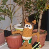 Вязаная игрушка — работа Анастасии