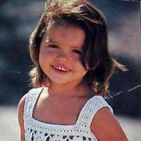 Детский сарафан с вязаным лифом