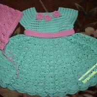 Платье и косынка для девочки