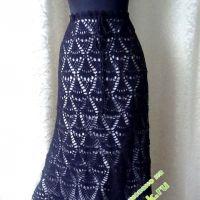 Ажурная длинная юбка — работа Натали