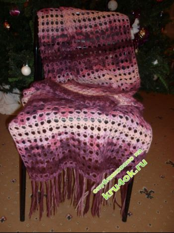 Ажурный шарф - работа Беляевой