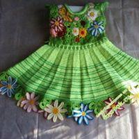 Вязаное платье для девочки 2-х лет