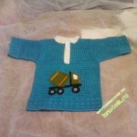 Вязаная рубашка для мальчика