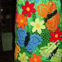 Вязаная юбка — работа Резеды