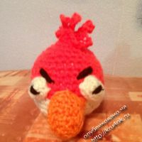 Вязаная игрушка angry birds