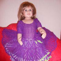 Вязаное платье «Сиреневое чудо»