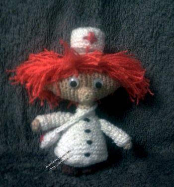 Вязаная игрушка Док Валерияныч. Вязание крючком.