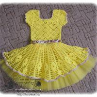 Вязаное крючком платье «Солнышко»