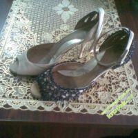 Туфли крючком — работа Марины