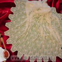 Ажурная длинная юбка крючком