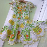 Вязаное крючком платье «Вальс бабочек»