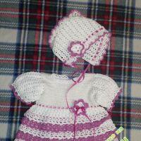 Бело-розовое платье — работа Елены