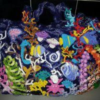 Вязаная крючком сумка — работа Арины