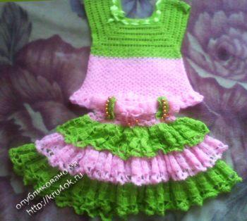 Зеленая туника для девочки