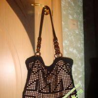 Вязаная сумка из акрила