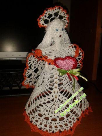 Вязаная крючком кукла – работа Альбины. Вязание крючком.