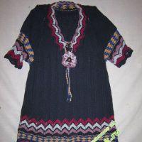 Комбинированное платье — работа Галины