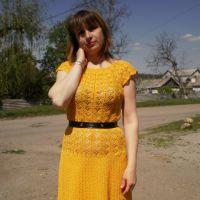 Вязаное крючком платье — работа Ирины Стильник
