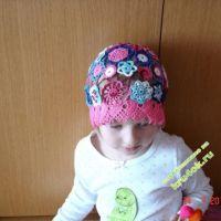 Летняя шапочка для девочки — работа Татьяны Скаловой