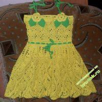 Детское платье крючком — работа Светланы