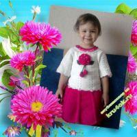 Вязаное крючком платье для девочки — работа Натальи
