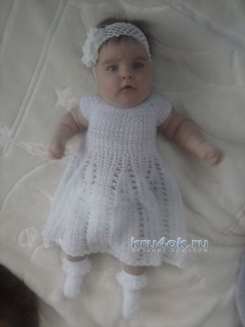 Вязаное платье своими руками спицами